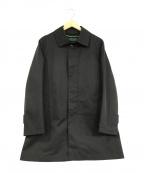 Paul Stuart(ポールスチュアート)の古着「ステンカラーコート」|ブラック