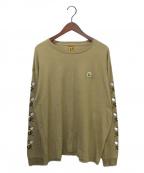 HUMAN MADE(ヒューマンメイド)の古着「長袖Tシャツ」|ベージュ