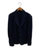 ()の古着「パイルジャガードジャケット」 ネイビー