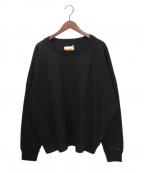 Calvin Klein(カルバンクライン)の古着「ORGANIC COTTON ヘビーウェイト スウェットシャ」|ブラック