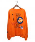 HERON PRESTON(ヘロンプレストン)の古着「COLLAGE Sweatshirt 」|オレンジ