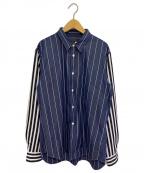 COMME des GARCONS Homme Plus(コムデギャルソン オムプリュス)の古着「切替シャツ」 ネイビー