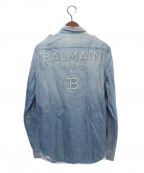 BALMAIN(バルマン)の古着「バックロゴデニムシャツ」 インディゴ