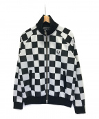 FRED PERRY(フレッドペリー)の古着「チェッカートラックジャケット ロゴ 」|ホワイト×ブラック