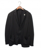 LARDINI(ラルディーニ)の古着「EASY WEAR ジャケット」 ブラック