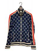 ()の古着「GGジャカード コットン ジャケット」|ネイビー