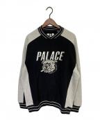 PALACE(パレス)の古着「BUNNING BULLDOG CREW」|ブラック×グレー