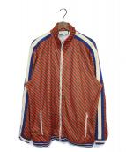 ()の古着「トラックジャケット」 レッド×グリーン