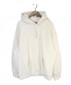 SUPREME(シュプリーム)の古着「Micro Logo Hooded Sweatshirt」|アイボリー