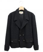 GUCCI(グッチ)の古着「21SS ダブルプレストツイードジャケット」|ブラック