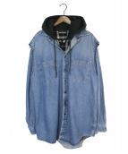 ()の古着「19SS Twin set Shirt With Hood」|インディゴ