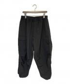 is-ness(イズネス)の古着「NU WIDE 6PK PANTS」|ブラック