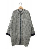 ()の古着「ツイードコート」 ミント