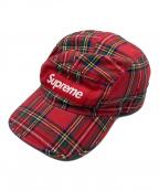 SUPREME(シュプリーム)の古着「チェックキャンプキャップ」|レッド