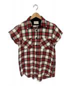()の古着「チェックシャツ」 レッド