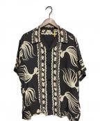 Sun Surf(サンサーフ)の古着「GOLD FISH アロハシャツ」|チャコールグレー