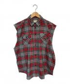 FOG(エフオージー)の古着「ノースリーブチェックシャツ」|グレー