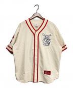 SUPREME(シュプリーム)の古着「Patches Denim Baseball Jersey」|ベージュ