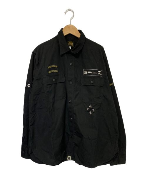 A BATHING APE(エイプ)A BATHING APE (アベイシングエイプ) RELAXED SECURITY SHIRT ブラック サイズ:Mの古着・服飾アイテム