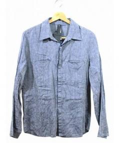 wjk(ダブルジェイケイ)の古着「simple linen shirt/リネンシャツ」|ブルー