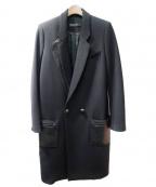 PROENZA SCHOULER(プロエンザ スクーラー)の古着「レザー切替コート」|ブラック