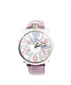 GAGA MILANO(ガガ ミラノ)の古着「MANUALE40 3953 /腕時計」|ホワイトシェル×パープル