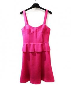 Emilio Pucci(エミリオプッチ)の古着「DRESS/ドレスキャミソールワンピース」|ショッキングピンク