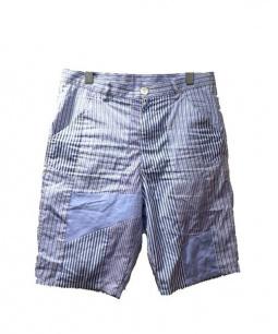 COMME des GARCONS SHIRT(コムデギャルソンシャツ)の古着「パッチワークショートパンツ」|スカイブルー