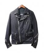 Francis T MOR.K.S(フランシストモークス)の古着「ライダース型ジャケット」|ブラック