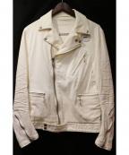 Francis T MOR.K.S(フランシストモークス)の古着「ダブルライダースジャケット」|ホワイト