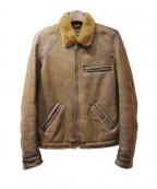 GOLDEN GOOSE DELUXE BRAND(ゴールデングースデラックスブランド)の古着「シープスキンムートンブルゾン」|ブラウン