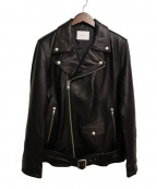 SUB-AGE.(サベージ)の古着「シープシキンライダースジャケット」|ブラック