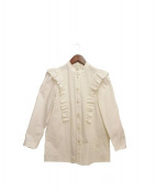 Marc by MarcJacobs(マークバイマークジェイコブス)の古着「ラッフルディテールシャツ」 ホワイト