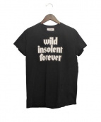 courreges(クレージュ)の古着「16SS/プリントTシャツ」|ブラック