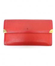 LOUIS VUITTON(ルイ・ヴィトン)の古着「3つ折り財布」|レッド
