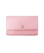 CHANEL(シャネル)の古着「COCOボタン2つ折り財布」|ピンク