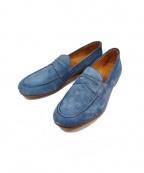 ARCOLLETTA PADRONE(アルコレッタパドローネ)の古着「スウェードローファー」 ブルー