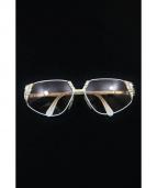 CAZAL(カザール)の古着「デザインサングラス」 ホワイト×ベージュ