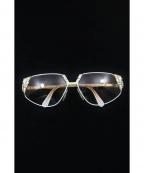 CAZAL(カザール)の古着「デザインサングラス」|ホワイト×ベージュ