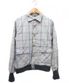 deluxe clothing(デラックスクロージング)の古着「ブルゾン」|グレー×ブルー