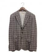 N4(エヌフォー)の古着「リネン混テーラードジャケット」 グレー