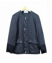Azuma(アズマ)の古着「ノーカラージャケット」|ブラック