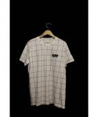 OFF WHITE(オフホワイト)の古着「ウィンドペン柄プリントTシャツ」|ホワイト