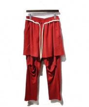 elephant TRIBAL fabrics(エレファントトライバルファブリックス)の古着「17SS/レイヤードパンツ」|レッド