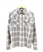 A GOOD TIME PRODUCTION(ア グッド タイム プロダクション)の古着「ウールチェックシャツ」|カーキ