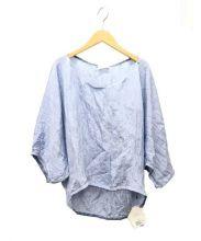 CEPIE(セピエ)の古着「シワ加工ブラウス」|ブルー