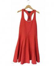 EMPORIO ARMANI(エンポリオアルマーニ)の古着「タンクフレアワンピース」|ピンク