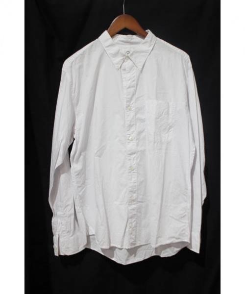 VISVIM(ヴィスヴィム)VISVIM (ビズビム) ボタンダウンストライプシャツ ホワイト サイズ:Lの古着・服飾アイテム