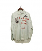PEEL&LIFT(ピールアンドリフト)の古着「DCTL shirt/ワッペンシャツ」 ライトグリーン