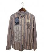 PEEL&LIFT(ピールアンドリフト)の古着「ANARCHY BLEACHシャツ」 パープル